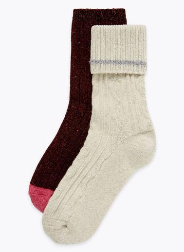 Marks & Spencer 2'li Çorap Bej